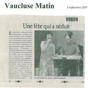 Presse Robion 2007